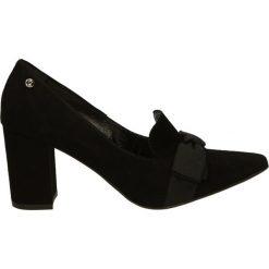 Czółenka - 1586O CAM NER. Czarne buty ślubne damskie Venezia, ze skóry. Za 249,00 zł.