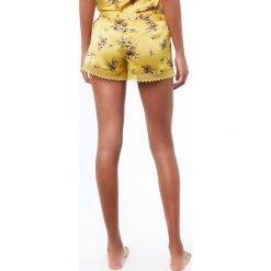 Etam - Szorty piżamowe Blossom. Niebieskie piżamy damskie marki Etam, l, z bawełny. W wyprzedaży za 59,90 zł.