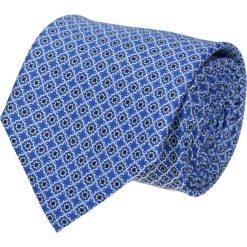 Krawaty męskie: krawat platinum niebieski classic 214
