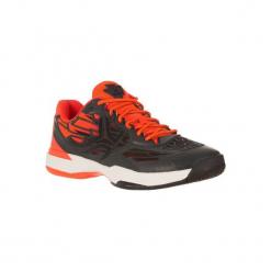 Buty tenisowe męskie TS990 na twardą nawierzchnię. Czarne buty do tenisa męskie marki ARTENGO, z gumy. W wyprzedaży za 179,99 zł.