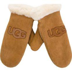 Rękawiczki Damskie UGG - W Logo Mitten 17370  Chestnut. Brązowe rękawiczki damskie Ugg, z materiału. Za 639,00 zł.