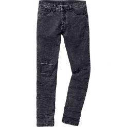 """Dżinsy ze stretchem SKINNY bonprix czarny """"moon"""". Niebieskie jeansy męskie skinny marki House, z jeansu. Za 54,99 zł."""