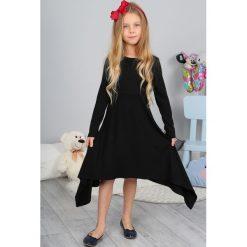 Czarna Sukienka z Długim Rękawem NDZ8187. Szare sukienki dziewczęce marki Fasardi. Za 58,00 zł.