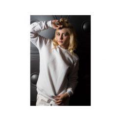 Bluza – Geometric Neckline. Szare bluzy damskie marki Agnieszka martini, l, z bawełny. Za 160,65 zł.