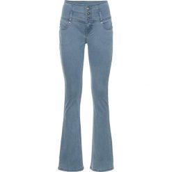 Dżinsy ze stretchem Bootcut bonprix niebieski bleached. Niebieskie jeansy damskie bootcut marki bonprix. Za 44,99 zł.