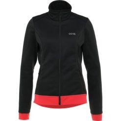Gore Wear THERMO  Kurtka Outdoor black/hibiscus pink. Czarne kurtki damskie softshell Gore Wear, z materiału, outdoorowe. Za 669,00 zł.