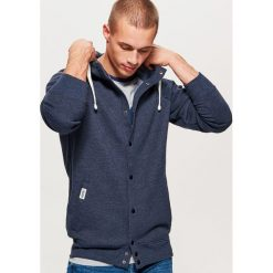 Bluza typu COLLEGE - Granatowy. Niebieskie bluzy męskie marki bonprix, m, melanż. Za 129,99 zł.