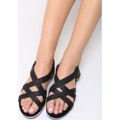 Czarne Sandały Lapwing. Czarne sandały damskie vices, na płaskiej podeszwie. Za 79,99 zł.