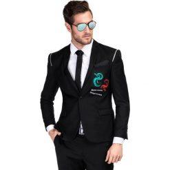 Marynarka ZENONE MACS000138. Czarne marynarki męskie Giacomo Conti, w kolorowe wzory, z jeansu. Za 999,00 zł.