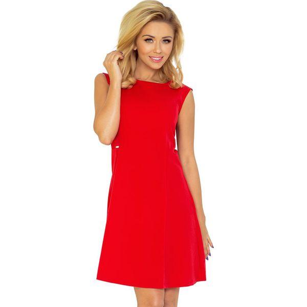 ee1b1f47fe Ewelina Sukienka TRAPEZ - CZERWONA - Czerwone sukienki damskie ...