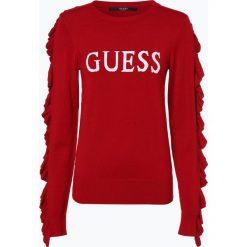 Swetry klasyczne damskie: Guess Jeans - Sweter damski, czerwony