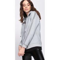 Jasnoszara Bluza Practical Chic. Szare bluzy rozpinane damskie marki Born2be, l. Za 74,99 zł.