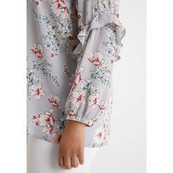 Bluzki asymetryczne: Dorothy Perkins Curve V NECK PRINT Bluzka grey