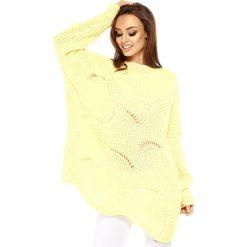 Swetry klasyczne damskie: Sweter w kolorze cytrynowym