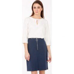 Spódniczki: Trapezowa spódnica z suwakiem