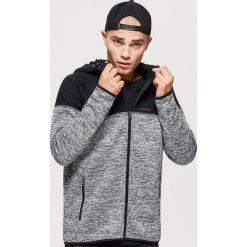 Bluza polarowa typu softshell - Szary. Czarne bluzy męskie marki Cropp, l, z polaru, z kapturem. Za 149,99 zł.