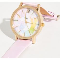 Zegarek z jednorożcem - Różowy. Czerwone zegarki damskie Sinsay. Za 24,99 zł.