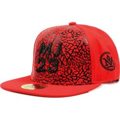 Czapka męska snapback czerwona (hx0283). Czerwone czapki z daszkiem męskie marki Dstreet, z haftami, eleganckie. Za 69,99 zł.
