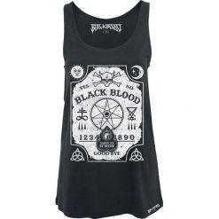 Black Blood Witchboard Top damski czarny. Czarne topy damskie Black Blood, s, z nadrukiem, z jersey, z dekoltem w łódkę. Za 74,90 zł.
