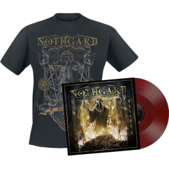 Nothgard Malady X LP + T-Shirt standard. Czarne t-shirty damskie Nothgard, l, w kolorowe wzory, z bawełny. Za 121,90 zł.