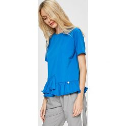 Answear - Top Stripes Vibes. Szare topy damskie ANSWEAR, s, z bawełny, z okrągłym kołnierzem. W wyprzedaży za 47,90 zł.