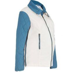Bluza ciążowa rozpinana z mikropolaru, z watowanymi rękawami bonprix biel wełny - niebieski dżins. Niebieskie bluzy ciążowe marki bonprix, z polaru. Za 124,99 zł.