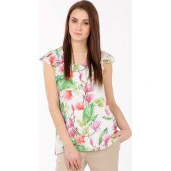 Bluzki damskie: Bluzka z kwiatowym wzorem II