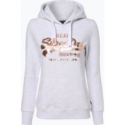 Superdry - Damska bluza nierozpinana, szary. Szare bluzy z nadrukiem damskie marki Superdry, l, z bawełny, z okrągłym kołnierzem. Za 349,95 zł.