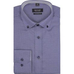 Koszula bexley 2573 długi rękaw custom fit granatowy. Niebieskie koszule męskie Recman, m, z długim rękawem. Za 159,00 zł.