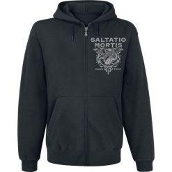 Bejsbolówki męskie: Saltatio Mortis Dragon Triangle Bluza z kapturem rozpinana czarny