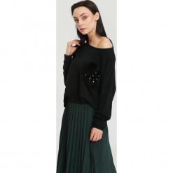 Czarny Sweter Opuscule. Czarne swetry klasyczne damskie other, uniwersalny. Za 59,99 zł.