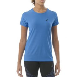 Asics Koszulka SS Top niebieska r. XS (134104 8008). Niebieskie topy sportowe damskie Asics, xs. Za 94,11 zł.