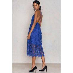 Sukienki: NA-KD Boho Sukienka z ażurową koronką - Blue
