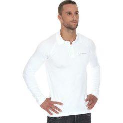Brubeck Koszulka męska polo Prestige z długim rękawem biała r. XL (LS10620). Białe koszulki polo marki Brubeck, m, z długim rękawem. Za 215,89 zł.