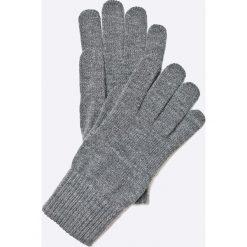 Wrangler - Rękawiczki. Szare rękawiczki męskie Wrangler, z dzianiny. W wyprzedaży za 59,90 zł.