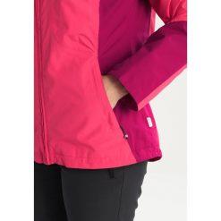Icepeak LARA Kurtka przeciwdeszczowa cranberry. Fioletowe kurtki damskie softshell Icepeak, z materiału, outdoorowe. W wyprzedaży za 293,30 zł.