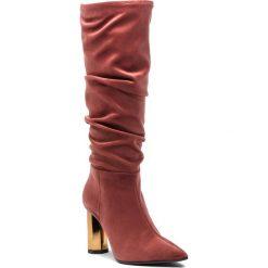Kozaki EVA MINGE - Galdacano 4H 18BL1372560EF  803. Czerwone buty zimowe damskie Eva Minge, z materiału, na obcasie. W wyprzedaży za 389,00 zł.