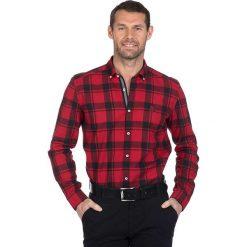 """Koszule męskie na spinki: Koszula """"Ball"""" w kolorze czerwono-czarnym"""