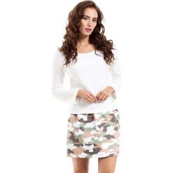 Spódnica Mini z Nadrukiem Moro Model 2. Zielone minispódniczki marki Molly.pl, l, moro, z dzianiny, biznesowe. Za 59,90 zł.