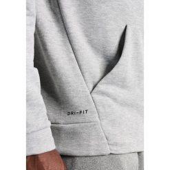 Nike Performance DRY SWOOSH HOODIE Bluza z kapturem dark grey heather/white. Niebieskie bluzy męskie rozpinane marki Nike Performance, m, z materiału. Za 379,00 zł.