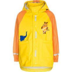 Playshoes DIE MAUS Kurtka przeciwdeszczowa yellow. Żółte kurtki chłopięce przeciwdeszczowe Playshoes, z materiału. Za 159,00 zł.