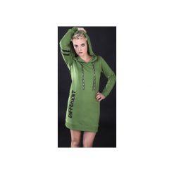 """Sukienka """"Different Green"""" - Bohater x Paula Tomczyk. Czarne sukienki dzianinowe marki Sinsay, l, z kapturem. Za 104,30 zł."""