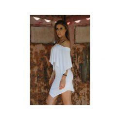 Kremowa Sukienka Soft Cream. Szare sukienki asymetryczne marki Mohito, l, z asymetrycznym kołnierzem. Za 250,00 zł.