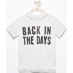 T-shirty chłopięce: T-shirt z kapturem – Beżowy