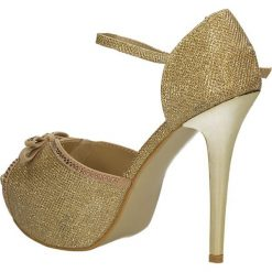 CZÓŁENKA CASU 7CR-GH84038. Brązowe buty ślubne damskie Casu, na koturnie. Za 54,99 zł.