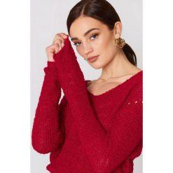 Swetry klasyczne damskie: MANGO Sweter z dekoltem V – Red