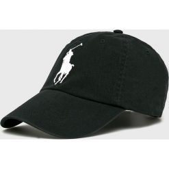 Polo Ralph Lauren - Czapka. Czarne czapki z daszkiem męskie marki Polo Ralph Lauren, z bawełny. Za 219,90 zł.