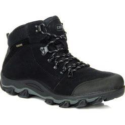 Buty trekkingowe męskie: Buty trekkingowe męskie skórzane wodoodorne czarne DK