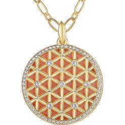 Biżuteria i zegarki: Pozłacany naszyjnik z zawieszką – dł. 52 cm