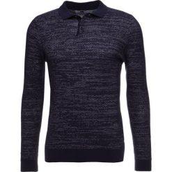 Swetry klasyczne męskie: Topman TEXTURE  Sweter navy blue